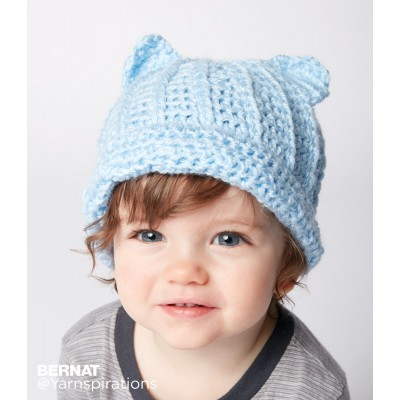 Baby Crochet Kitty Hat Easy Free Pattern Free Baby Crochet