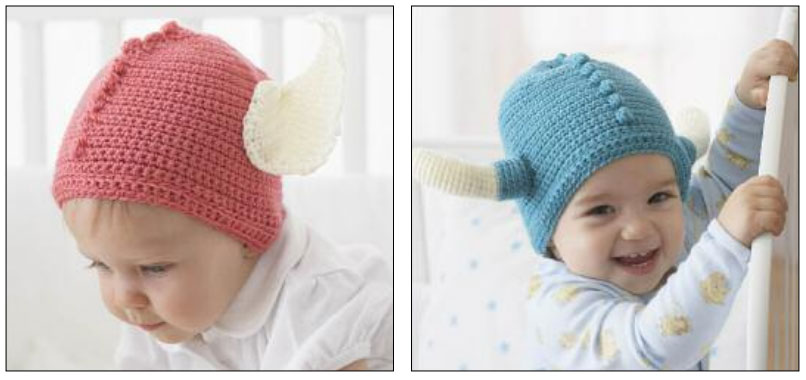 Crochet Warrior Baby Helmets Free Pattern