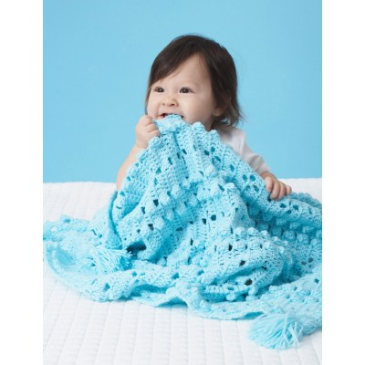 Textured Grid Baby Blanket Free Crochet Pattern