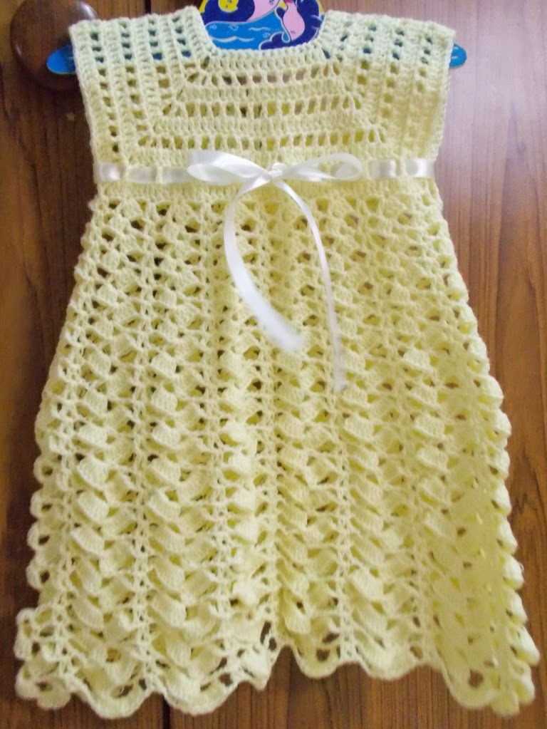 Chevron Dress Free Crochet Pattern for Baby