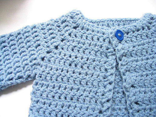 Crocheted Baby Sweater Free Pattern