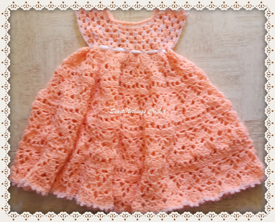 Lovely Shelled Girl's Dress Free Crochet Pattern ⋆ Free Baby Crochet Custom Baby Crochet Patterns
