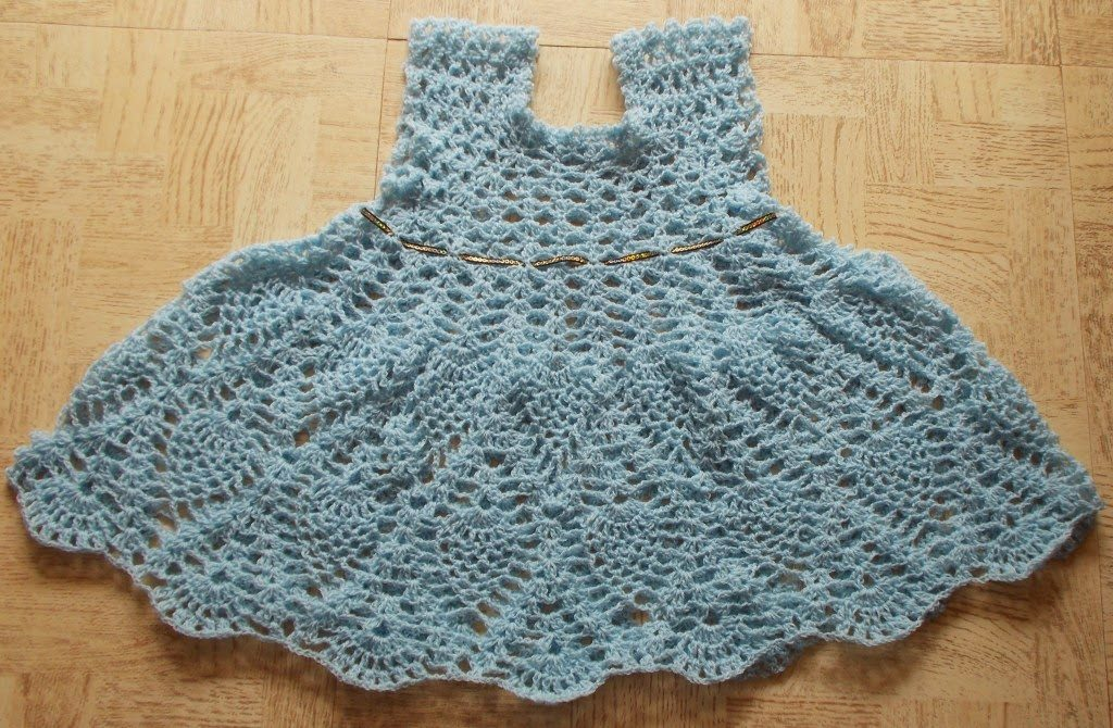 Oh-Cho-Chweet Pineapple Dress Free Crochet Pattern
