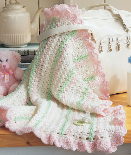 Crochet Baby Blanket Patterns Popcorn Stitch : Crochet Stroller Blanket Free pattern ? Free Baby Crochet