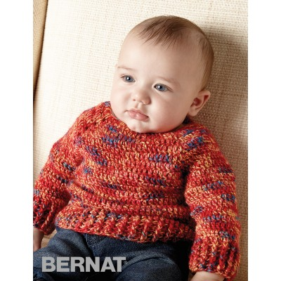 Hurry Down Pullover Bernat Free Baby Crochet Pattern