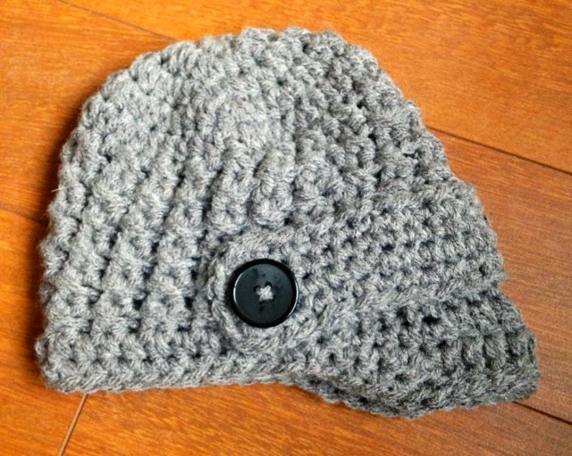 Newborn Textured Newsboy Hat