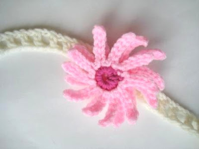 Baby Headband with Flowers (Free Crochet Pattern)