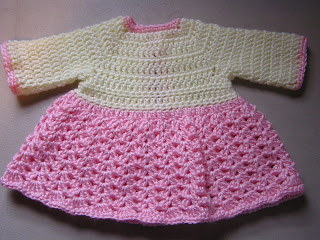 Crochet Baby Sweater Dress Pattern