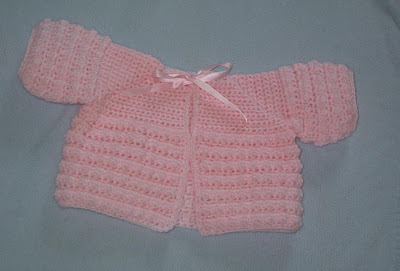 Pink Matinee Jacket For A Baby Girl Free Crochet Pattern