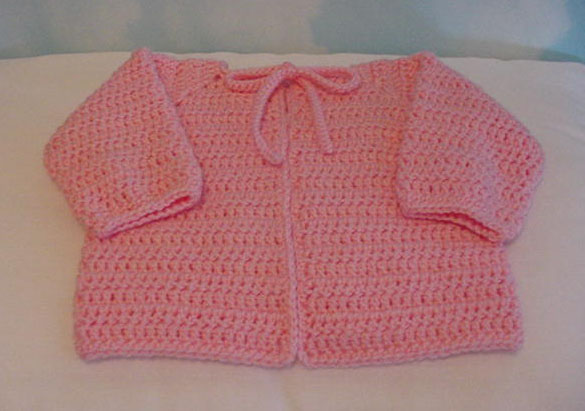 SLK Baby Sacque - Simple Crochet Baby Jacket Pattern