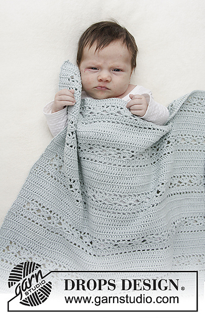 Sleepy Times Lace Baby Blanket Crochet Pattern Free 1