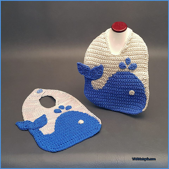 The Blue Whale Baby Bib Free Crochet Baby Pattern