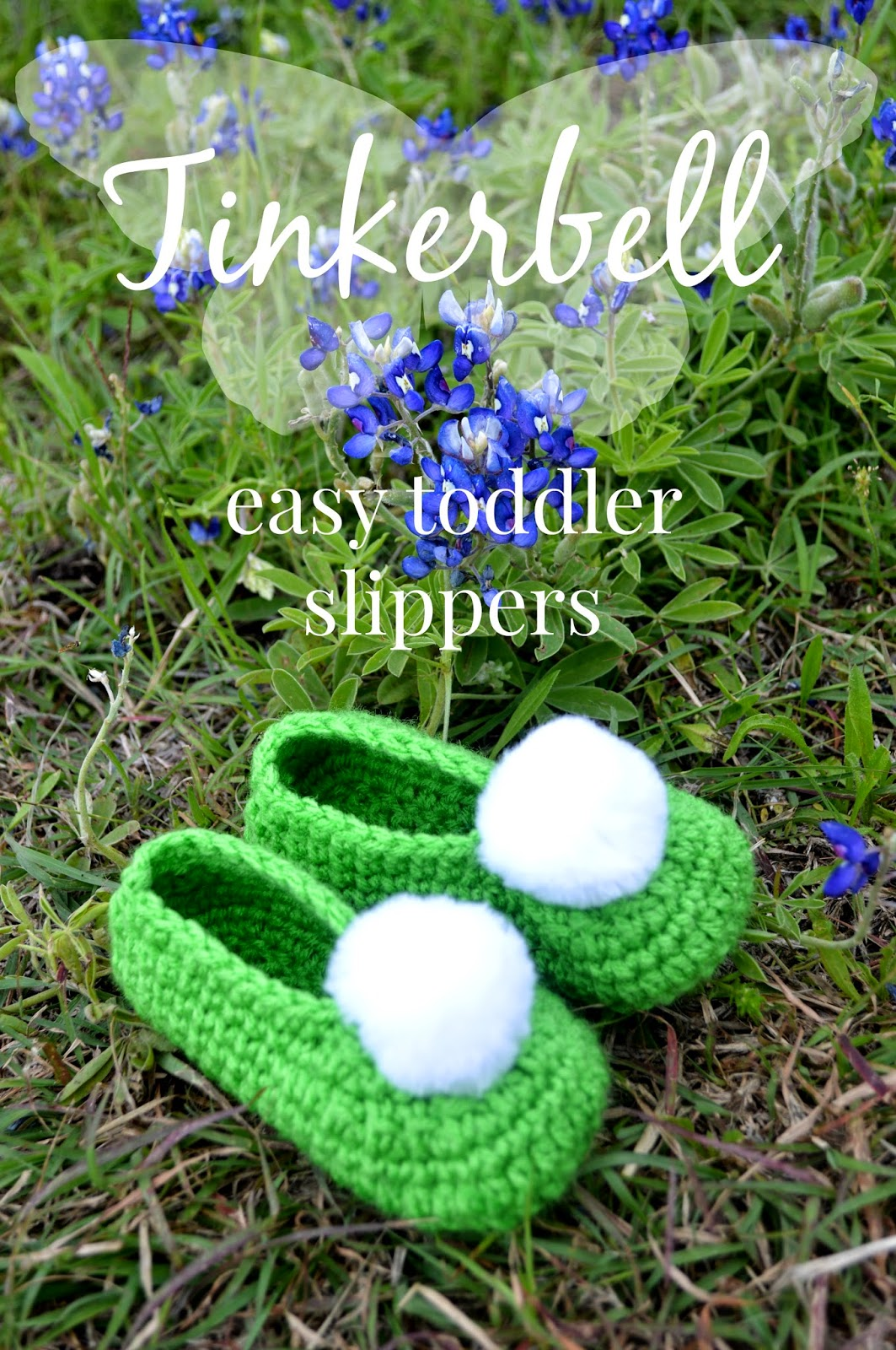 Tinkerbell Toddle Slippers Free Crochet Pattern