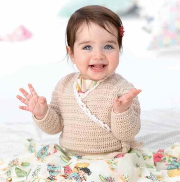 Easy Crochet Cardigan for Babies Patons